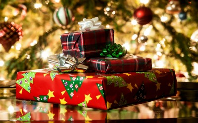Gifts Beneath a Christmas Tree