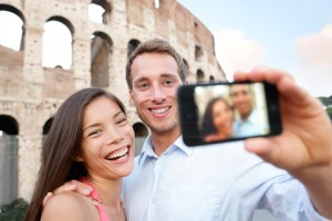Couple taking a Selfie at the Colosseum