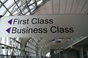 First Class Sign