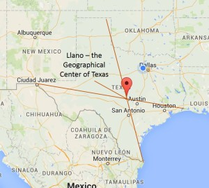 Graphic: Map of Texas showing Llano