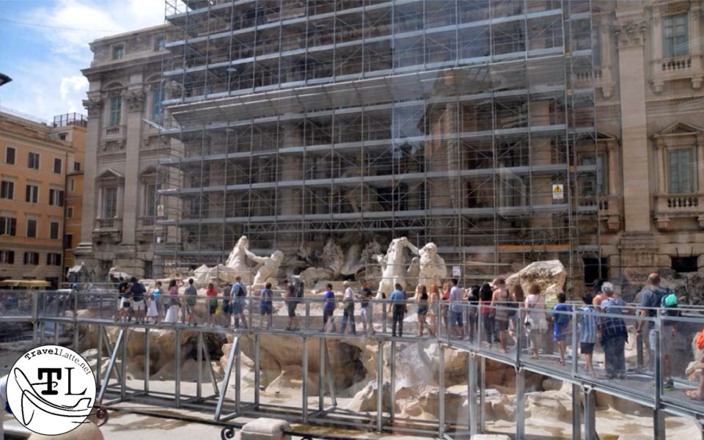 Roman Renovations at the Trevi Fountain