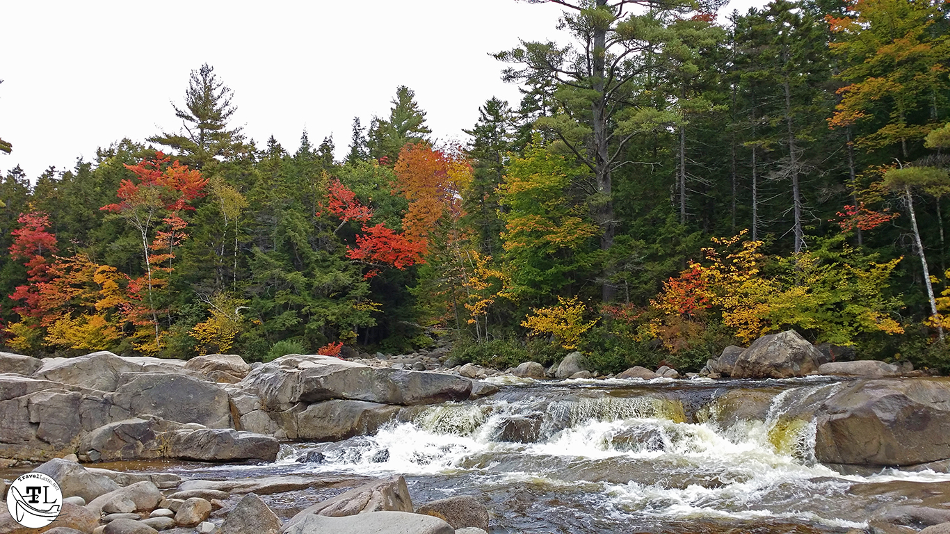 Lower Falls of the Swift River on the Kancamagus Highway