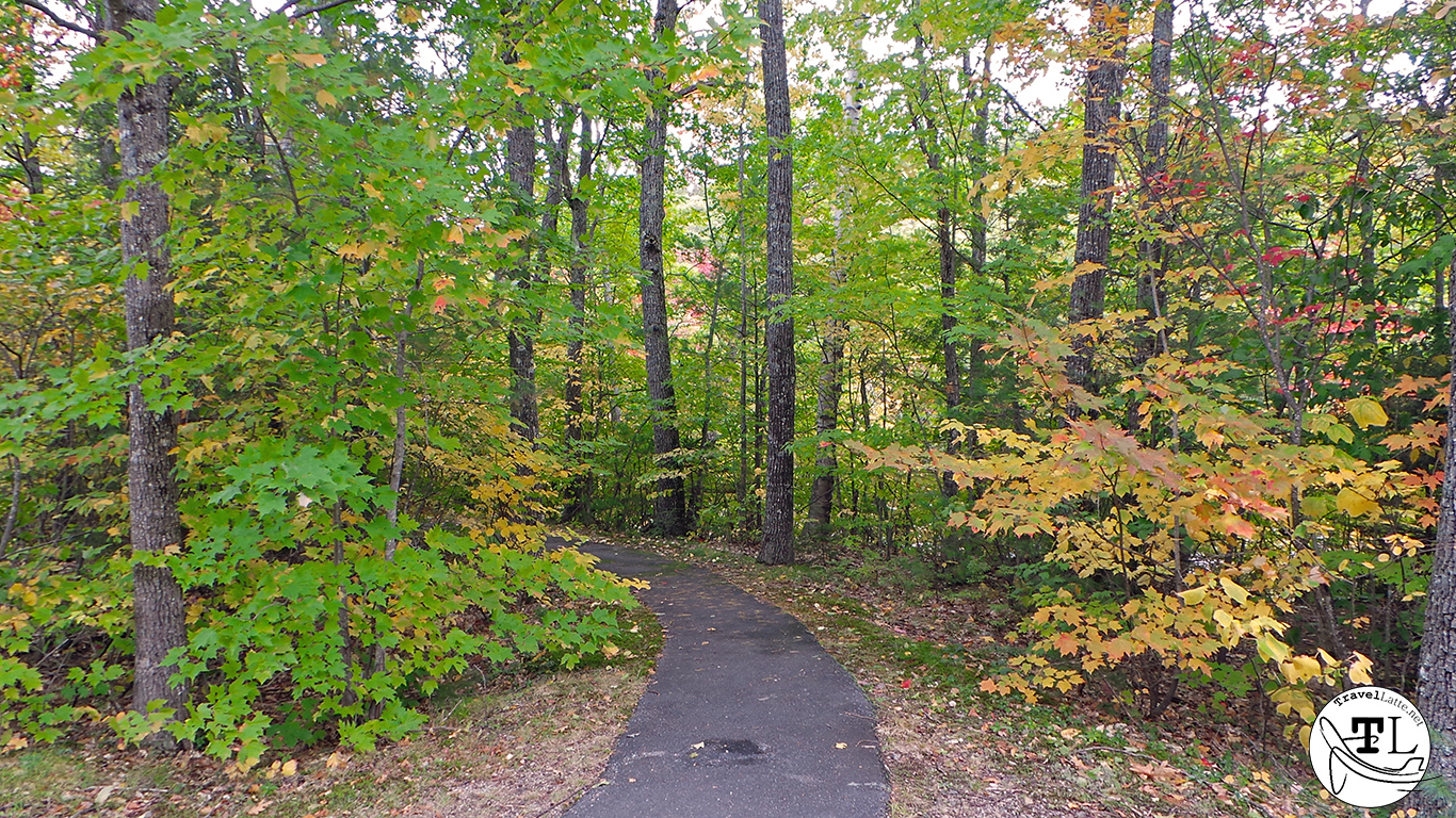 Path to the River at the Albany Covered Bridge