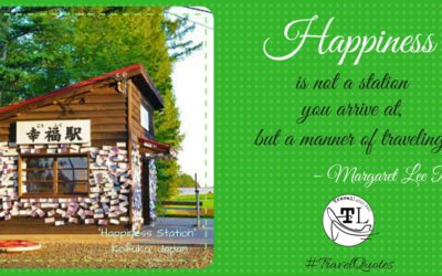 Travel Quotes - Happiness is a manner of Travel - via @TravelLatte.net